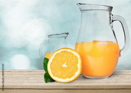 Deurstickers Sap Orange juice.
