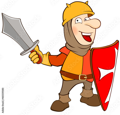 Illustration of a Cute Knight . Cartoon Character