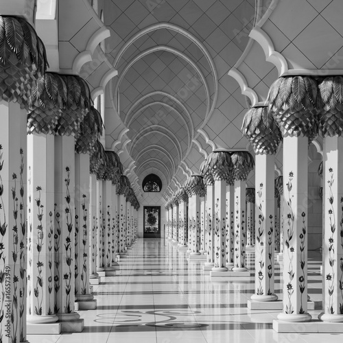 Foto op Canvas Abu Dhabi White Mosque