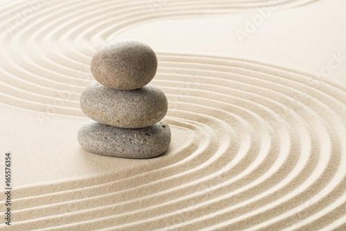 Foto op Aluminium Stenen in het Zand Zen.