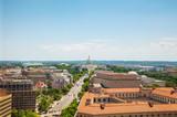 Washington, DC city aerial view