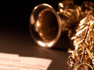 Saxophone jazz music instrument