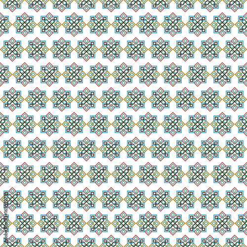 Mosaic tile arabic seamless pattern background - 165592741