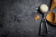 Quadro Vanilla ice cream on rustic background