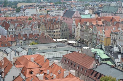 Poznań z lotu ptaka/Aerial view of Poznan, Greater Poland, Poland
