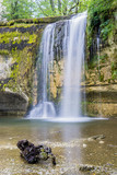 Waterfalls of the river Le Hérisson, in the French Jura