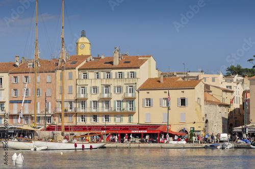 saint tropez harbour Poster