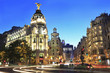 Gran Vía is an upscale shopping street located in central Madrid. Is known as the Spanish Broadway, and it is one of the streets with the most nightlife in Europe.