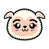 isolated cute sheep face icon vector illustration graphic design - 165633911