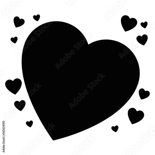 isolated big heart icon vector illustration graphic design