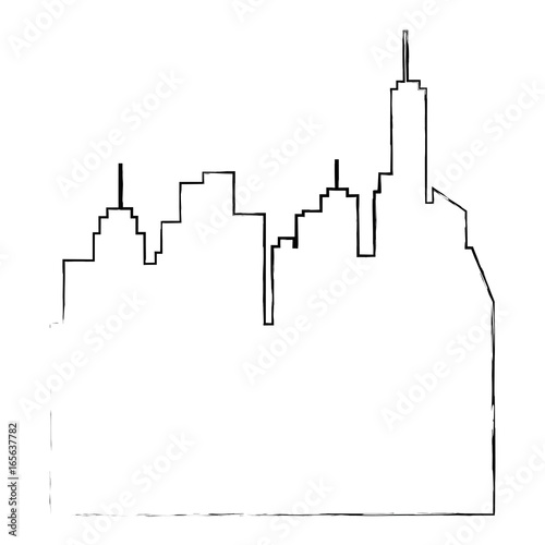 isolated city landscape icon vector illustration graphic design