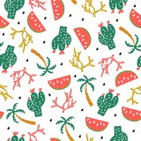 Seamless vector pattern summer style.