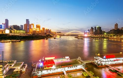 Foto op Aluminium Beijing China Chongqing City Lights