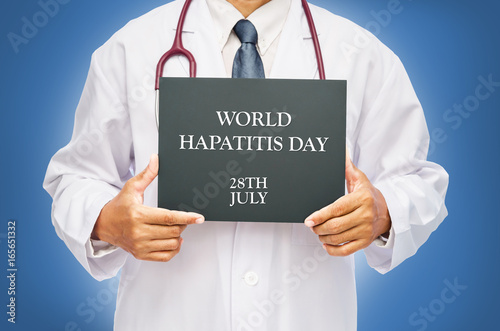 Poster World Hepatitis day concept.