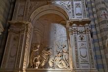 """Постер, картина, фотообои """"Orvieto - Duomo interior. , beautiful Cathedral in Orvieto, Umbria, Italy """""""