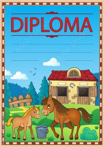 Tuinposter Voor kinderen Diploma concept image 5