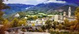 Bobbio - beautiful ancient town with impressive roman bridge, Italy - 165662500