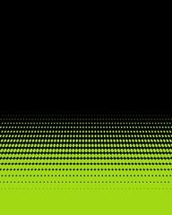 Verlauf aus hellgrünen Punkten auf schwarz