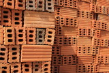 brick block building material in construction site industry