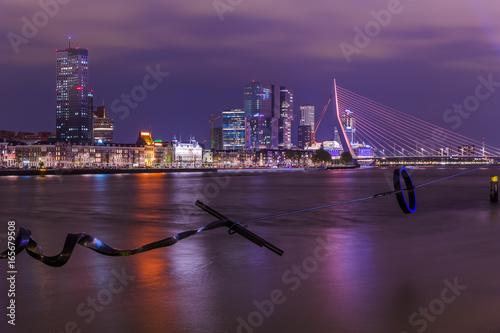 Rotterdam cityscape and modern sculpture - Netherlands