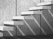 Concrete stairs on wall. 3d illustration