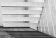 3d background with white concrete stairs on wall