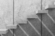 White concrete stairs. 3d render illustration