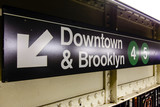 Downtown & Brooklyn New-York Subway Sign - 165687732