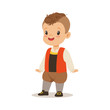 Boy wearing national costume of France colorful character vector Illustration - 165690550