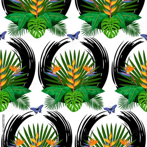 Tropical Bouquet Seamless Pattern