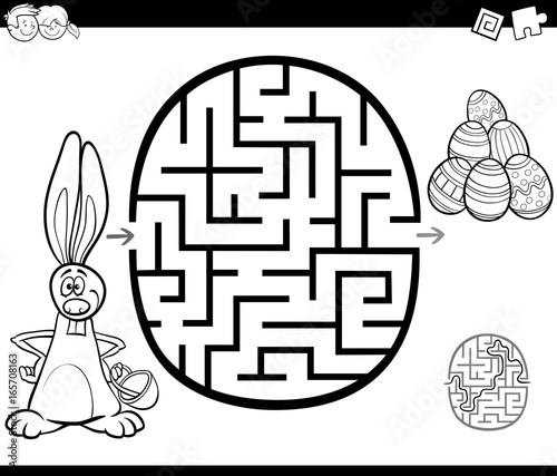 easter maze activity for coloring
