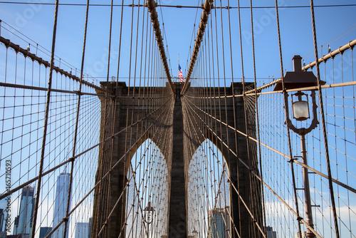 Top of the Brooklyn bridge