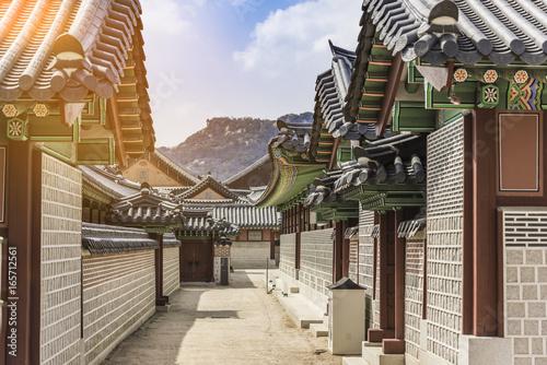 Old Korean architecture,Seoul South Korea.