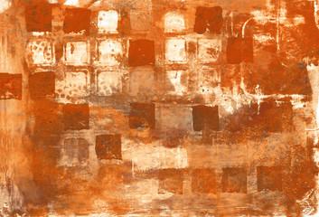 abstrakte gemalte Quadrate