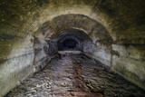 Tunnel of abandoned unfinished soviet bunker