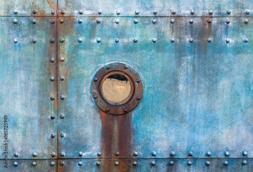 Ship Cabin Porthole Steel Riveted Plates