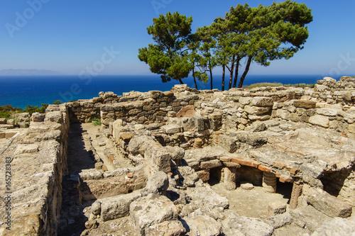 Antike Kameiros Ruinen auf Rhodos - Griechenland
