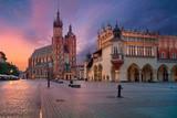 Krakow. Image of old town Krakow, Poland during sunrise. - 165736515