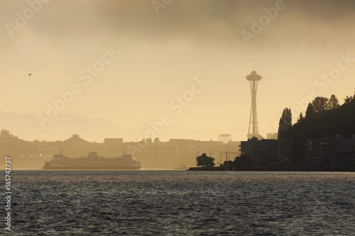 Foggy Seattle Morning Poster