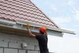 Installation of gutter system - 165743181