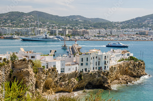 Ibiza Town with Eixample and marina