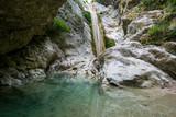 Nydri waterfall Dimosari on Lefkada island