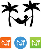 Hammock Icon - Illustration - 165756998