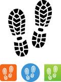 Hiking Boot Print Icon - Illustration - 165757724