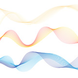 Vector abstract outlined wave