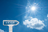 air pur respirer pollution CO2 nuage ciel bleu soleil environnement purifier respecter nature