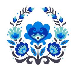 blue folk flowers