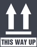 This Side Up Icon. This Way Up Sign. Packaging Symbol for Delivery of Cargo - 165792157