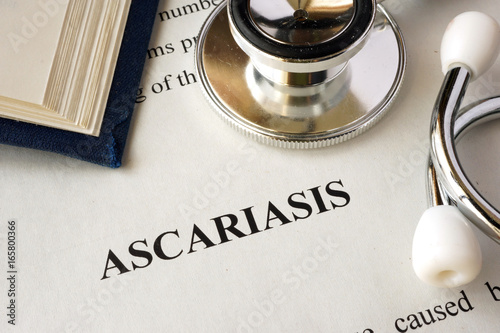 Document with word Ascariasis in a hospital.