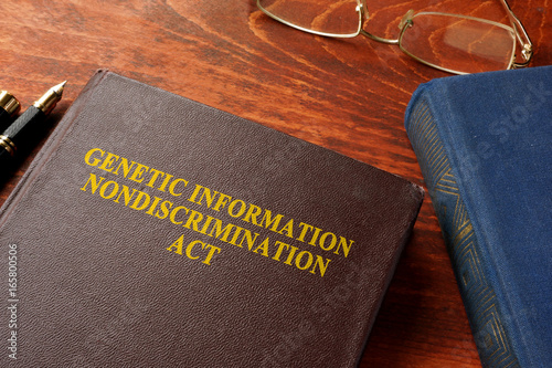 Book with title The Genetic Information Nondiscrimination Act of 2008 (GINA).